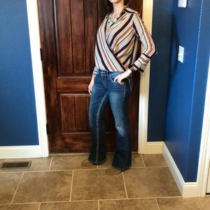 Silver boot cut jeans 28x32